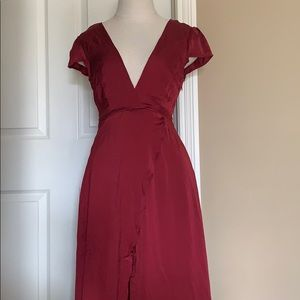 Burgundy Maxi Dress From Nasty Gal